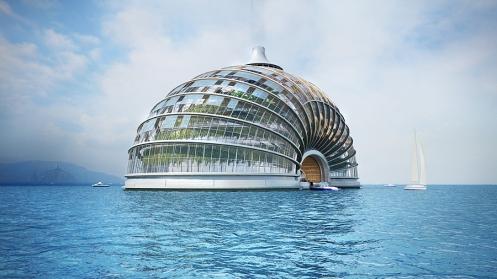 Das Ark Hotel auf Wasser