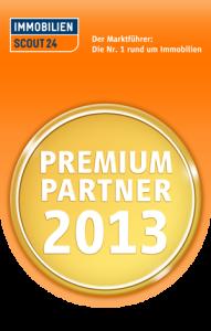 Auszeichnung von ImmobilienScout24 als Premium Partner 2013