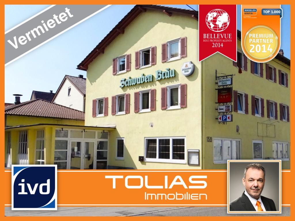 Restaurant in Stuttgart-Zuffenhausen erfolgreich vermietet.