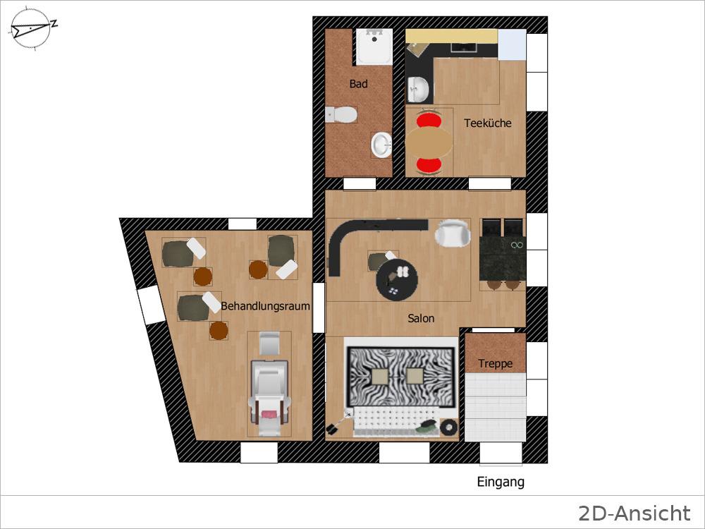 Teeküche büro grundriss  Büro-/Praxisfläche mit ca. 46 m² im angesagten Stuttgarter Westen ...