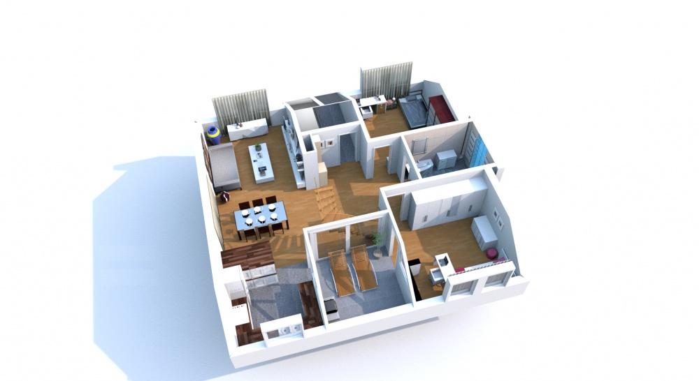 Grundriss wohnung 2 zimmer 3d  Tolias Immobilien